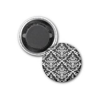 白黒ダマスク織パターン マグネット