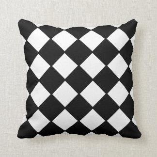 白黒チェッカーボードの装飾者の枕 クッション
