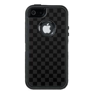 白黒チェッカーボード オッターボックスディフェンダーiPhoneケース