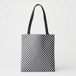 白黒チェッカーボード トートバッグ