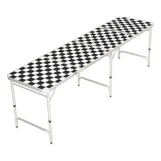 白黒チェッカーボード ビアポンテーブル