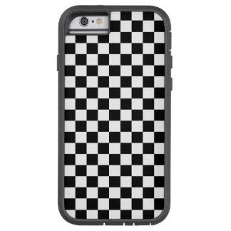 白黒チェッカーボード TOUGH XTREME iPhone 6 ケース