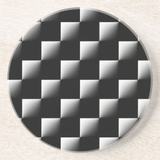 白黒チェック模様のパターン コースター