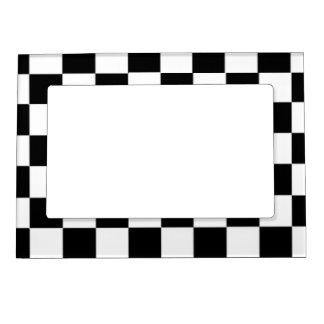 白黒チェック模様のパターン マグネットフレーム