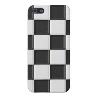 白黒チェック模様のiPhone4箱 iPhone 5 ケース
