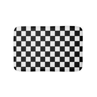 白黒チェック模様-バス・マット バスマット