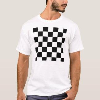 白黒チェック模様 Tシャツ