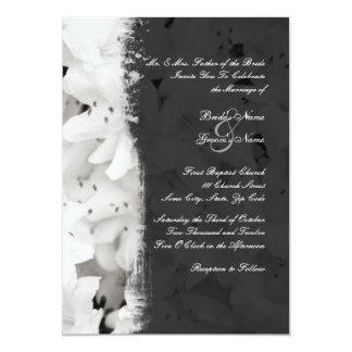 白黒ツツジの結婚式招待状 カード