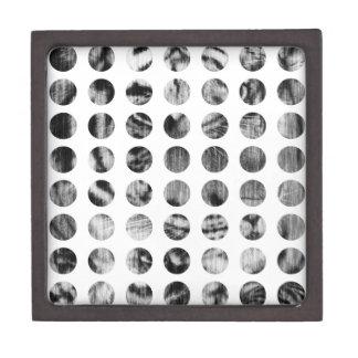 白黒トラの水玉模様パターン ギフトボックス