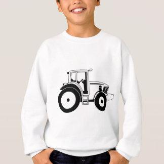 白黒トラクター スウェットシャツ