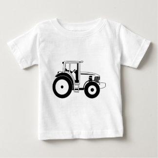 白黒トラクター ベビーTシャツ