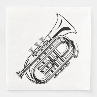 白黒トランペットのスケッチの楽器