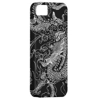 白黒ドラゴンのiPhone 5の箱 iPhone SE/5/5s ケース