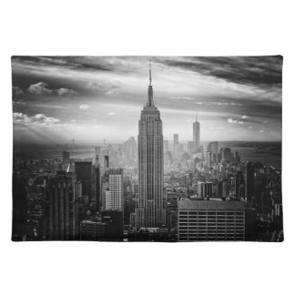 白黒ニューヨークシティのスカイライン ランチョンマット