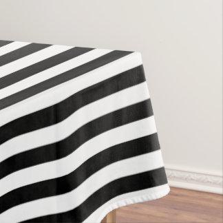白黒ハロウィンのストライプな綿のテーブルクロス テーブルクロス