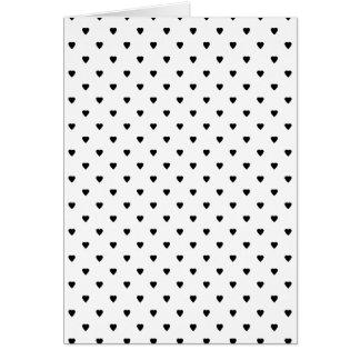 白黒ハートパターン カード