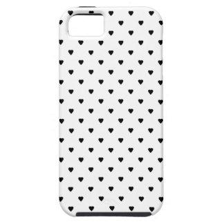 白黒ハートパターン iPhone SE/5/5s ケース