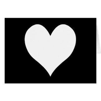白黒ハート カード