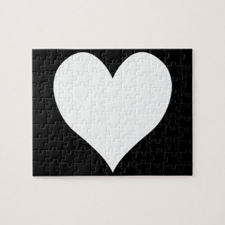 白黒ハート ジグソーパズル