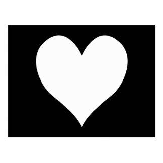 白黒ハート ポストカード