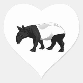 白黒バク ハートシール