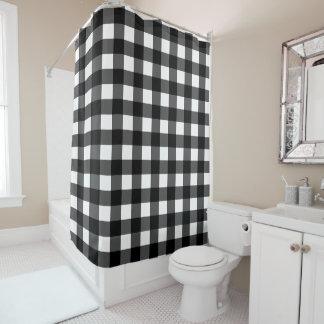 白黒バッファローの点検のシャワー・カーテン シャワーカーテン