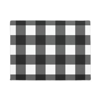 白黒バッファローの点検の玄関マット ドアマット