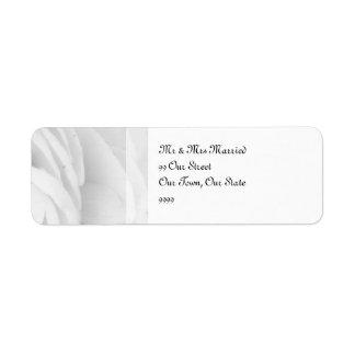 白黒バラの結婚式 返信用宛名ラベル