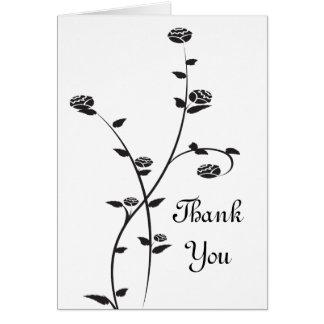 白黒バラは感謝していしています カード