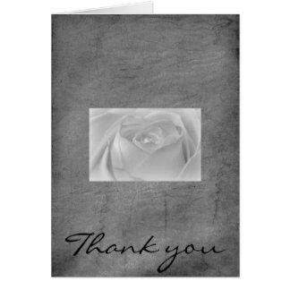 白黒バラ、ありがとう カード