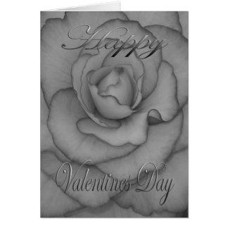 白黒バレンタインの花 カード