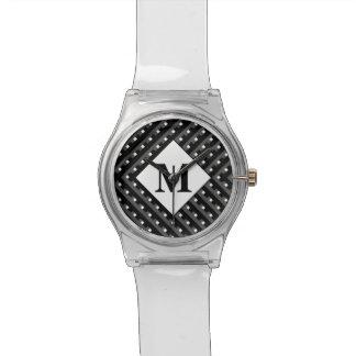 白黒パターンモノグラム 腕時計