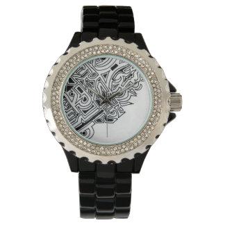白黒パターン腕時計 腕時計