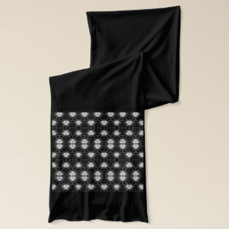 白黒パターン(の模様が)ある スカーフ