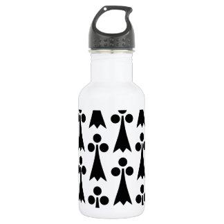 白黒パターン(の模様が)ある 532ML ウォーターボトル