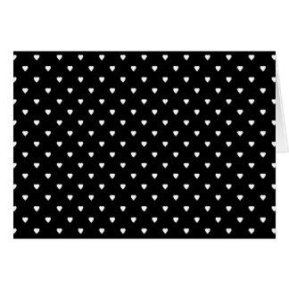 白黒パターン-ハート。 カスタム カード