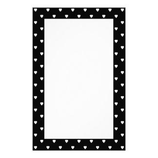 白黒パターン-ハート。 カスタム 便箋