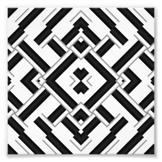 白黒パターン フォトプリント