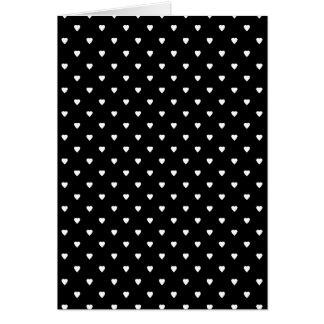 白黒パターン-中心 カード