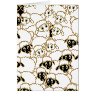白黒ヒツジの群 カード