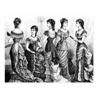 白黒ビクトリアンなファッション ポストカード