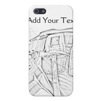 白黒ビジネスの便利屋のスケッチ iPhone 5 カバー