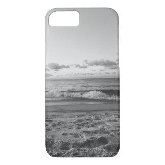 白黒ビーチの眺めのiPhone 7の箱 iPhone 8/7ケース