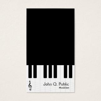 白黒ピアノミュージシャン 名刺