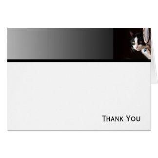 白黒ピーカーブ式猫 カード