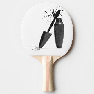 白黒ファッションの化粧の美しいのマスカラ 卓球ラケット