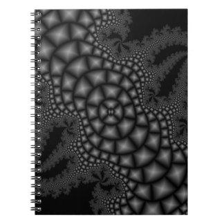 白黒フラクタルのノート ノートブック