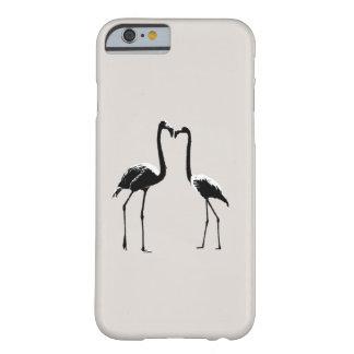 白黒フラミンゴ愛電話箱 BARELY THERE iPhone 6 ケース