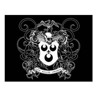 白黒ブードゥーの芸術 ポストカード