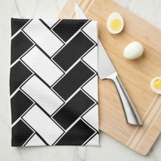 白黒ヘリンボン キッチンタオル